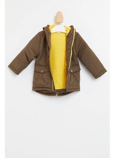 DeFacto Erkek Bebek Cep Detaylı Kapüşonlu Mont Haki